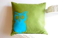 owl sillouette pillow