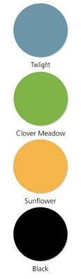 "10/5/09 -- Color Me Monday: A ""Twilight"" Halloween -- Twilight, Clover Meadow, Sunflower & Black -- CTMH Color Combos"
