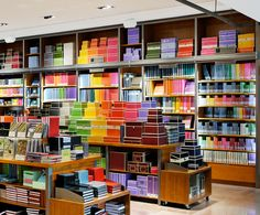 LEMAYMICHAUD | Montréal | Retail | Store | Paper | Stationary | Display | I love it when store displays are organized by color! Gift Shop Magazine