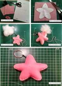Keychain - key ring - heart - gift idea- felt keychain - party favors - Valentine's - love - sweet 16 - party - Patchyz by Kathleen Flask Felt Crafts, Diy And Crafts, Crafts For Kids, Sewing Crafts, Sewing Projects, Projects To Try, Felt Keychain, Star Diy, Felt Baby
