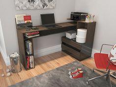 Mesa para Computador/Escrivaninha Versalite 2 Gavetas - Fiasini - Mesas Computador/Escrivaninha ‹ Magazine Luiza