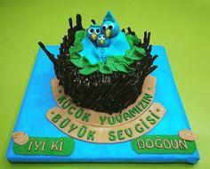 Küçük yuvaların büyük sevgilerine doğum günü pastası