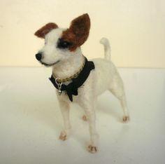 Needlefelted Jack Russell miniature