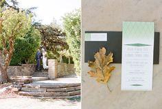 Green geometric accents with a Dark Grey envelope Green Wedding Invitations, Invites, Dark Grey, Stationary, Envelope, Bride, Simple, Paper, Modern
