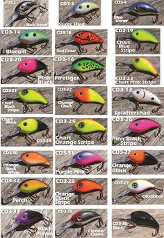 Fishing lure color selection chart google search trout for Fishing lure selector