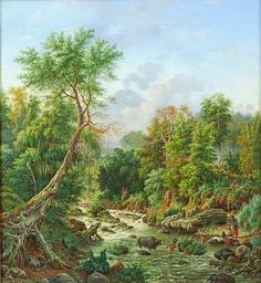 Maurits vd Kerkhoff - Sungai Brantas, Malang (1889) #2