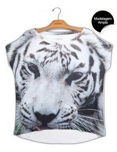 blusa premium quadrada tigre branco www.usenatureza.com #UseNatureza #JeffersonKulig