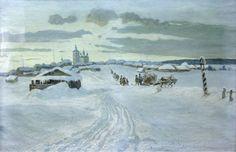 Александр Владимирович Маковский(1869-1924) Зимняя дорога. 1913 г. Холст, масло.