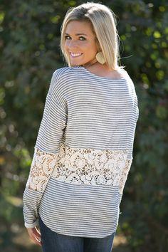 Francine Crochet Top. love white plum boutique.