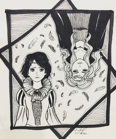"""desono: """"INKTOBER DAY 13. Agatha and Sophie from The School for Good and Evil! """""""
