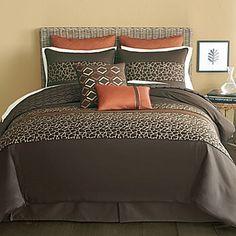 afrika einrichung f rs schlafzimmer bettw sche mit tierischen prints musterdecken wohnen und. Black Bedroom Furniture Sets. Home Design Ideas
