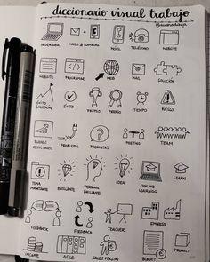 """49 Me gusta, 7 comentarios - aurora (@auroradibuja) en Instagram: """"Creando mi diccionario visual de trabajo. Visual dictionary. #visualthinking #visualart…"""""""