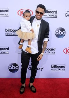 Chris Brown and baby Royalty at 2015 BBMAs  - Sugarscape.com