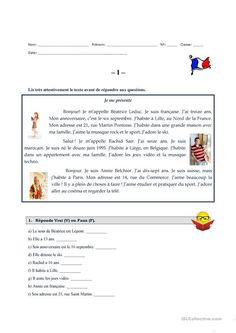 Je me présente French Flashcards, French Worksheets, French Language Lessons, French Lessons, French Teacher, Teaching French, French Basics, French Practice, French Alphabet