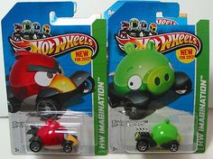 HOT WHEELS LOT OF 2 ANGRY BIRDS  1 RED BIRD & 1 GREEN MINION PIG  2013 HTF  ADD THESE TO YOUR COLLECTION  1) 2013 HW IMAGINATION GREEN MINION PIG #35/247  2) 2013 HW IMAGINATION RED BIRD #47/247  THESE CARS ARE IN THEIR ORIGINAL PACKAGING AND AS YOU CAN SEE BY THE PHOTOS ARE IN GREAT CONDITION, $7.88