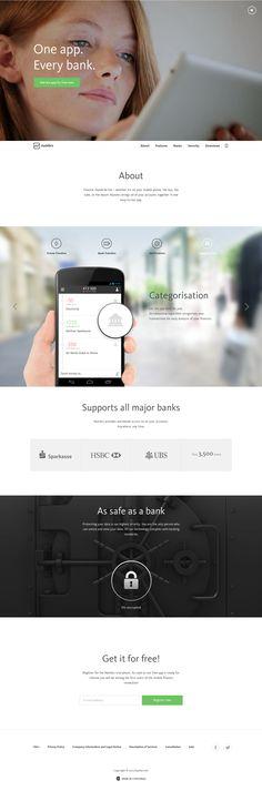 responsive website with video header #webdesign #flatdesign