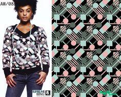 Supremebeing: Womenswear. AW/2008. Print Direction and Design.  Mirella Bruno Print Design. 2007.