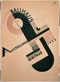 thecabinet: Joost Schmidt poster for the 1923 Bauhaus Exhibition in Weimar, Germany