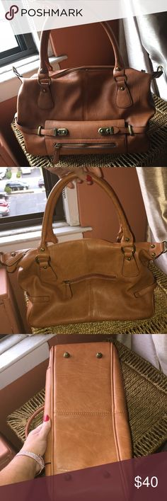 NWOT Scarleton vintage satchel in Camel BNWOT This great work or weekend bag is very well constructed. Cool zipper and snap detail. Never used. Color is Camel. Lined inside Bags