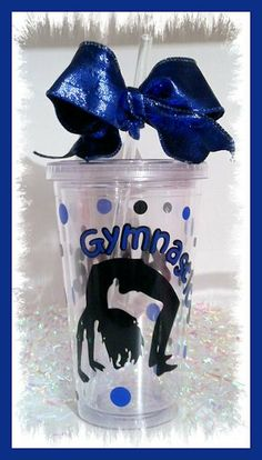 Cute Personalized Gymnastics Cup 16 oz by thisoldbarncreations, $12.00