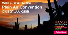 The Ultimate Plein Air Convention Giveaway.  Win a Ticket to the Convention and the Matt Smith Workshop, Plus $1,000 Cash