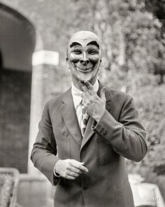 "Inner Optics 1925. ""Man wearing a mask made by W.T. Benda."""