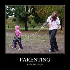 Level of awesomeness: Epic. How many costumes allow parents to make their kid a leash kid and still be the coolest costume ever? @ decorating-by-day
