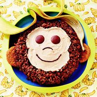 Wouldn't this be perfect for a monkey themed party? Peanut-Butter Monkey Cake.  Use monkey sock key chains as party favors. Read a Curious George storybook. Pin the tail on a monkey.  Could be lots of fun!