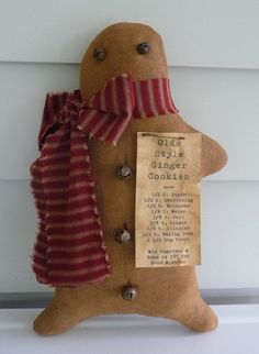Primitive Gingerbread man by ahlcoopedup on Etsy, $14.95