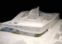 Theater Architecture, Concept Models Architecture, Architecture Model Making, Facade Architecture, Roof Design, Facade Design, Architectural Scale, Monterey Park, Arch Model