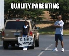 This Dad deserves a high five!