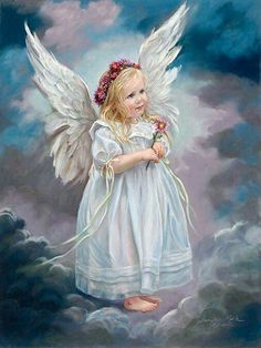 Angel - {By: Sandra Kuck - Artist} November * Mum - Angel Art Baby Engel, I Believe In Angels, Angel Pictures, Angels Among Us, Angels In Heaven, Guardian Angels, Angel Art, Illustrations, Religion