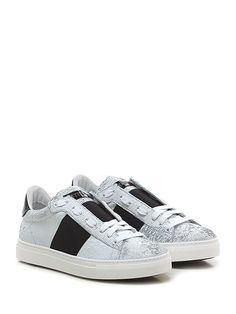 STOKTON - Sneakers - Donna - Sneaker in pelle e pelle laserata con fascia…