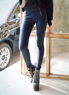 double zipper high skinny