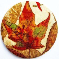 Autumnal Leaf Pocket Mirror  £2.99