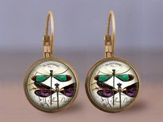 Dragonfly 2 Earrings Jewelry  Choose Size Finish & Style
