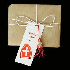 Sinterklaas gelukspoppetje kaartje!