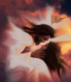 The Kiss of Your Abba Father by Deborah Waldron Fry Jesus Our Savior, Jesus Art, God Jesus, Jesus Wife, Meaningful Paintings, Gods Princess, Jesus Photo, Jesus Christus, Bride Of Christ