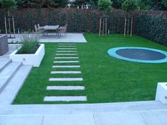 Landschaftsbau Heemsteedse Dreef - All For Garden Backyard Sitting Areas, No Grass Backyard, Backyard Trampoline, Small Backyard Landscaping, Landscaping Ideas, Backyard Ideas, Garden Ideas, Back Garden Design, Backyard Garden Design