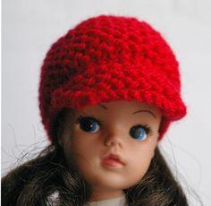 Red 60s style Carnaby street Sindy Hat DOLLS Tammy Tressy Barbie Petra Tilda