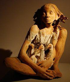 Artist Study with thanks to Fanny Ferré, sculpteur, Sculptor, Sculptures Céramiques, Sculpture Clay, Human Sculpture, Ceramic Figures, Ceramic Art, Statues, Ferrat, Tile Art, Art Portfolio