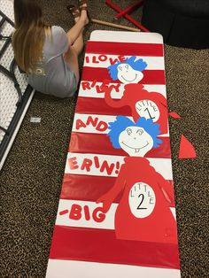 Good Sorority Big Little Door Decorations Cat In The Hat Thing 1 Thing 2