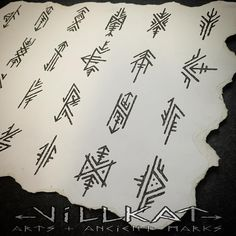 Repost of the embellished elder futhark runes I did a while ago :) Gaelic Tattoo, Pagan Tattoo, Norse Tattoo, Viking Tattoos, Viking Rune Tattoo, Hand Tattoos, Body Art Tattoos, Tribal Tattoos, Sleeve Tattoos