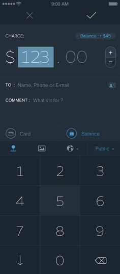 Floooz app screen by Barthelemy Chalvet. #ui #ux #app