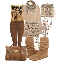 uggs Clothes Casual Outift for • teens • movies • girls • women •. summer • fall • spring • winter • outfit ideas • dates • parties Polyvore :) Catalina Christiano