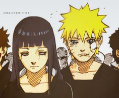 Naruto and Hinata at Neji's funeral in 699.