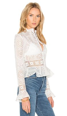 Shop for NICHOLAS Vintage Organdy Top in Antique White at REVOLVE. Modelos Plus Size, Fashion Outfits, Womens Fashion, Fashion Trends, Western Dresses, White Outfits, Revolve Clothing, White Style, Vintage Tops