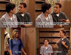 Boy Meets World. Man I love this show. Cory And Shawn, Cory And Topanga, Best Tv Shows, Best Shows Ever, Favorite Tv Shows, Favorite Things, Riley Matthews, Cory Matthews, Boy Meets World Quotes