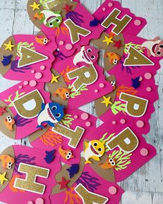 First Birthday Favors, Happy Birthday Banners, First Birthday Parties, Birthday Party Decorations, 3rd Birthday, First Birthdays, Baby Blocks, Custom Cake Toppers, Party Props