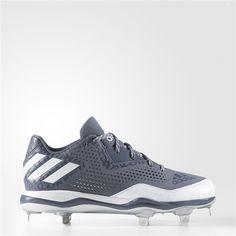 e05cb207ac3d Adidas PowerAlley 4 Cleats (Onix / Running White / Metallic Silver) Adidas  Baseball,